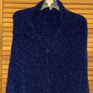 LuLaRoe Mimi Wrap/Shawl solid blue chenille